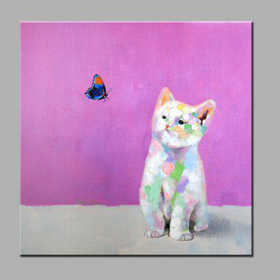 Buy COLORMIX YHHP Cute Cat Canvas Unframed Oil Painting for $28.40 in GearBest store