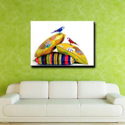 YHHP Casual Bird Canvas Unframed Oil PaintingOil Paintings<br>YHHP Casual Bird Canvas Unframed Oil Painting<br><br>Brand: YHHP<br>Craft: Oil Painting<br>Form: One Panel<br>Material: Canvas<br>Package Contents: 1 x Painting<br>Package size (L x W x H): 62.00 x 4.00 x 4.00 cm / 24.41 x 1.57 x 1.57 inches<br>Package weight: 0.2500 kg<br>Painting: Without Inner Frame<br>Product size (L x W x H): 60.00 x 50.00 x 1.00 cm / 23.62 x 19.69 x 0.39 inches<br>Product weight: 0.1500 kg<br>Shape: Horizontal<br>Style: Animal<br>Subjects: Animal<br>Suitable Space: Bedroom,Dining Room,Hotel,Living Room