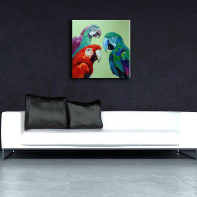YHHP Hand Painted Parrot Style Oil PaintingOil Paintings<br>YHHP Hand Painted Parrot Style Oil Painting<br><br>Brand: YHHP<br>Craft: Oil Painting<br>Form: One Panel<br>Material: Canvas<br>Package Contents: 1 x Painting<br>Package size (L x W x H): 72.00 x 4.00 x 4.00 cm / 28.35 x 1.57 x 1.57 inches<br>Package weight: 0.2200 kg<br>Painting: Without Inner Frame<br>Product size (L x W x H): 60.00 x 60.00 x 1.00 cm / 23.62 x 23.62 x 0.39 inches<br>Product weight: 0.1500 kg<br>Shape: Square<br>Style: Animal<br>Subjects: Animal<br>Suitable Space: Living Room
