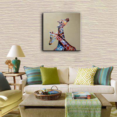 YHHP Hand Painted Giraffe Canvas Oil PaintingOil Paintings<br>YHHP Hand Painted Giraffe Canvas Oil Painting<br><br>Brand: YHHP<br>Craft: Oil Painting<br>Form: One Panel<br>Material: Canvas<br>Package Contents: 1 x Painting<br>Package size (L x W x H): 72.00 x 4.00 x 4.00 cm / 28.35 x 1.57 x 1.57 inches<br>Package weight: 0.2200 kg<br>Painting: Without Inner Frame<br>Product size (L x W x H): 60.00 x 60.00 x 1.00 cm / 23.62 x 23.62 x 0.39 inches<br>Product weight: 0.1500 kg<br>Shape: Square<br>Style: Animal<br>Subjects: Animal<br>Suitable Space: Living Room