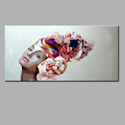 YHHP Hand Painted Woman Canvas Oil Painting 222987901