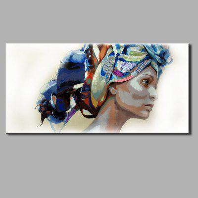 YHHP Hand Painted Headscarf Women Canvas Oil Painting