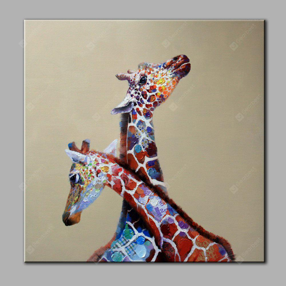 Yhhp Hand Painted Giraffe Canvas Oil Painting 19 46