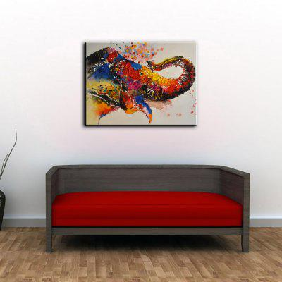 YHHP Colorful Elephant Canvas Oil PaintingOil Paintings<br>YHHP Colorful Elephant Canvas Oil Painting<br><br>Brand: YHHP<br>Craft: Oil Painting<br>Form: One Panel<br>Material: Canvas<br>Package Contents: 1 x Painting<br>Package size (L x W x H): 72.00 x 5.00 x 5.00 cm / 28.35 x 1.97 x 1.97 inches<br>Package weight: 0.3500 kg<br>Painting: Without Inner Frame<br>Product size (L x W x H): 90.00 x 60.00 x 1.00 cm / 35.43 x 23.62 x 0.39 inches<br>Product weight: 0.2500 kg<br>Shape: Horizontal<br>Style: Animal<br>Subjects: Animal<br>Suitable Space: Bedroom,Dining Room,Hotel,Living Room