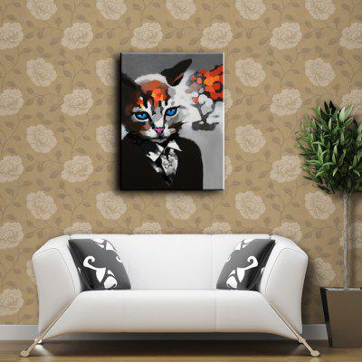 YHHP Suit Cat Canvas Oil PaintingOil Paintings<br>YHHP Suit Cat Canvas Oil Painting<br><br>Brand: YHHP<br>Craft: Oil Painting<br>Form: One Panel<br>Material: Canvas<br>Package Contents: 1 x Painting<br>Package size (L x W x H): 62.00 x 4.00 x 4.00 cm / 24.41 x 1.57 x 1.57 inches<br>Package weight: 0.2500 kg<br>Painting: Without Inner Frame<br>Product size (L x W x H): 60.00 x 50.00 x 1.00 cm / 23.62 x 19.69 x 0.39 inches<br>Product weight: 0.1500 kg<br>Shape: Horizontal<br>Style: Animal<br>Subjects: Animal<br>Suitable Space: Bedroom,Dining Room,Hotel,Living Room