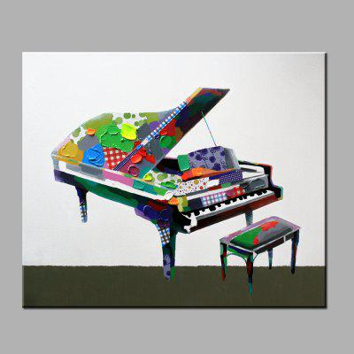 Buy COLORMIX YHHP Hand Painted Piano Pattern Canvas Oil Painting for $27.71 in GearBest store