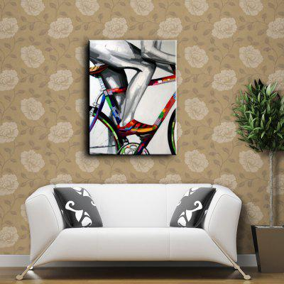 YHHP Hand Painted Colorful Bicycle Canvas Oil PaintingOil Paintings<br>YHHP Hand Painted Colorful Bicycle Canvas Oil Painting<br><br>Brand: YHHP<br>Craft: Oil Painting<br>Form: One Panel<br>Material: Canvas<br>Package Contents: 1 x Oil Painting<br>Package size (L x W x H): 62.00 x 4.00 x 4.00 cm / 24.41 x 1.57 x 1.57 inches<br>Package weight: 0.2000 kg<br>Painting: Without Inner Frame<br>Product size (L x W x H): 60.00 x 50.00 x 1.00 cm / 23.62 x 19.69 x 0.39 inches<br>Product weight: 0.1500 kg<br>Shape: Vertical<br>Style: Sport<br>Subjects: Sports<br>Suitable Space: Bedroom,Cafes,Dining Room,Hallway,Hotel,Living Room,Office