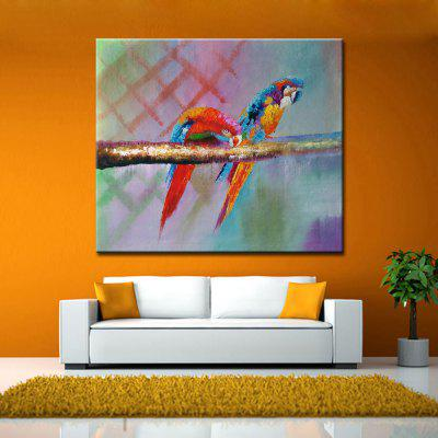 Mintura MT160167 Colorful Parrots Canvas Oil PaintingOil Paintings<br>Mintura MT160167 Colorful Parrots Canvas Oil Painting<br><br>Brand: Mintura<br>Craft: Oil Painting<br>Form: One Panel<br>Material: Canvas<br>Package Contents: 1 x Oil Painting<br>Package size (L x W x H): 86.00 x 5.00 x 5.00 cm / 33.86 x 1.97 x 1.97 inches<br>Package weight: 0.7300 kg<br>Painting: Without Inner Frame<br>Product size (L x W x H): 90.00 x 75.00 x 0.10 cm / 35.43 x 29.53 x 0.04 inches<br>Product weight: 0.6000 kg<br>Shape: Horizontal<br>Style: Animal<br>Subjects: Animal<br>Suitable Space: Bedroom,Cafes,Dining Room,Hallway,Kids Room,Living Room