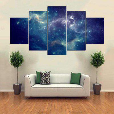 Buy COLORMIX YSDAFEN 5pcs Canvas Starry Sky Scenery Modern Print for $55.37 in GearBest store