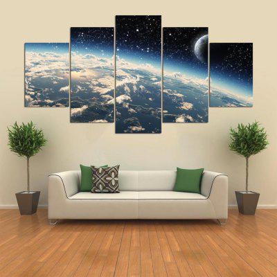 Buy COLORMIX 5PCS YSDAFEN Starry Sky Printed Painting Canvas Print for $55.37 in GearBest store