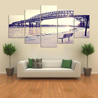Buy COLORMIX 5PCS YSDAFEN Bridge Printed Painting Canvas Print for $55.37 in GearBest store