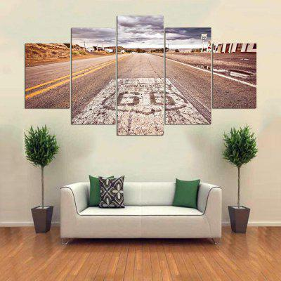 5PCS YSDAFEN Highway Printed Painting Canvas Print 225230901