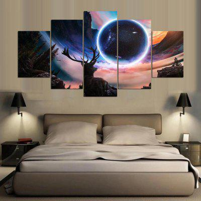 Buy COLORMIX YSDAFEN 5PCS Canvas Starry Sky Style Framed Print for $55.37 in GearBest store
