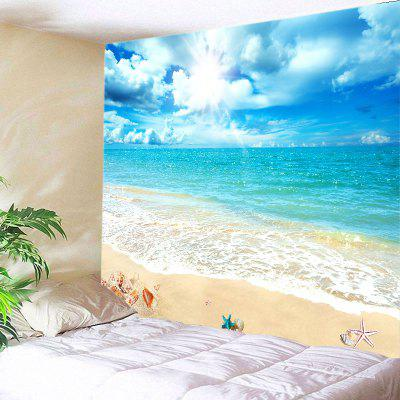 Buy LAKE BLUE Wall Hanging Art Decor Sunshine Beach View Print Tapestry for $12.46 in GearBest store