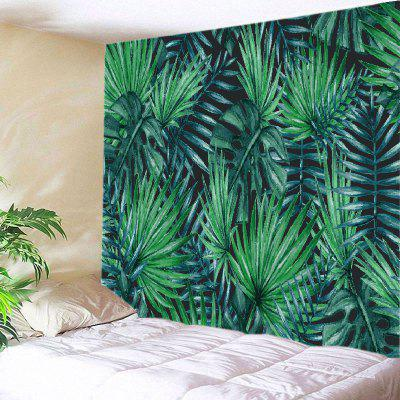 Buy GREEN Wall Hanging Art Decor Tropical Leaves Print Tapestry for $12.46 in GearBest store