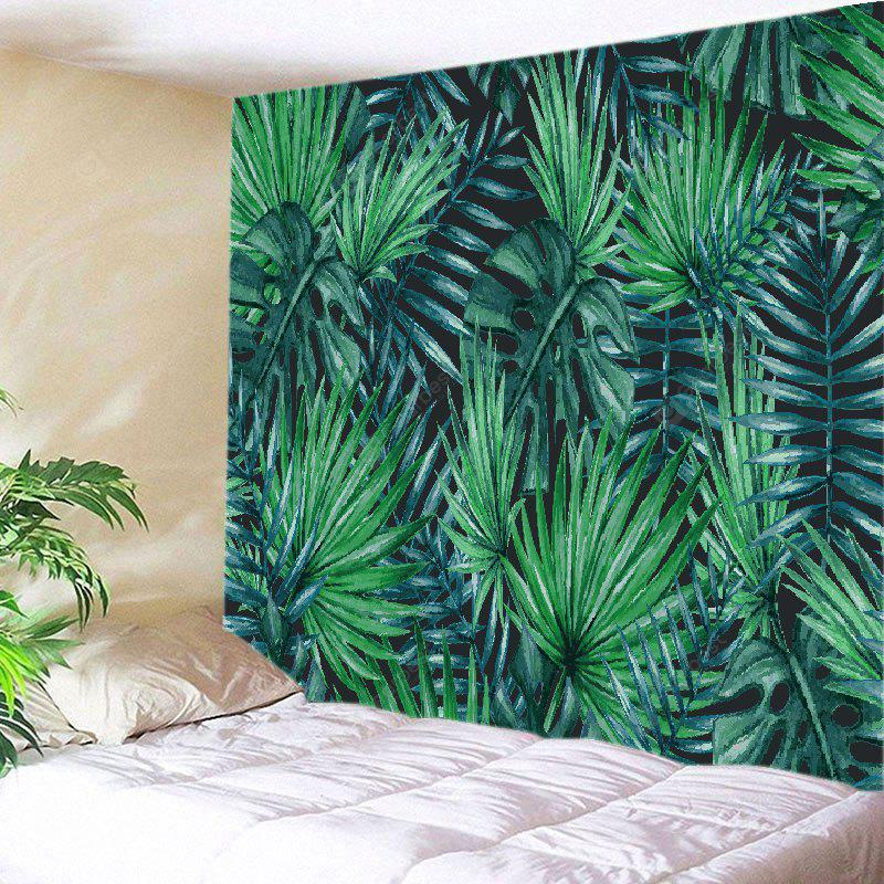 GREEN Wall Hanging Art Decor Tropical Leaves Print Tapestry