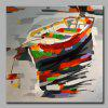 YHHP Colorful Boat Canvas Unframed Oil Painting - COLORMIX