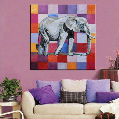Mintura Abstract Elephant Canvas Oil Painting Home Decor