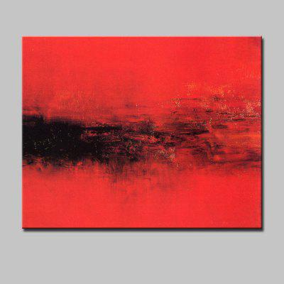 Mintura Red Abstract Style Hand Painted Home Decor