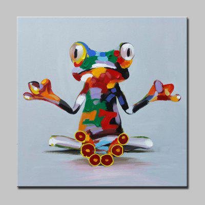 Mintura Abstract Frog Canvas Unframed Oil Painting