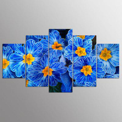 5PCS YSDAFEN Modern Colorful Flowers Abstract Canvas Prints Home Decor Picture Artwork Framed Wall Art Painting