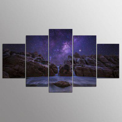 5PCS YSDAFEN Modern Seascape Abstract Canvas Prints Home Decor Picture Artwork Framed Wall Art Painting