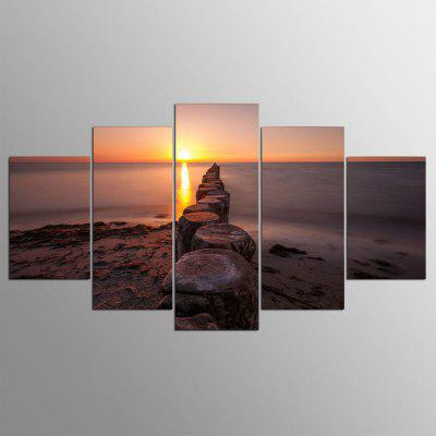 Buy COLORMIX 5PCS YSDAFEN Printed Sunset Painting Canvas Print for $55.37 in GearBest store