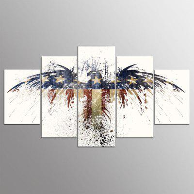 Buy COLORMIX 5PCS YSDAFEN Printed Eagle Painting Canvas Print for $43.99 in GearBest store