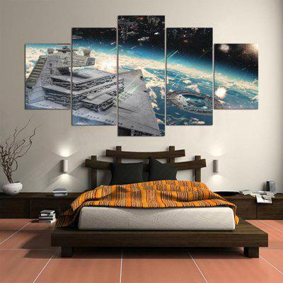 5PCS YSDAFEN Printed Starry Sky Painting Canvas PrintPrints<br>5PCS YSDAFEN Printed Starry Sky Painting Canvas Print<br><br>Brand: YSDAFEN<br>Craft: Print<br>Form: Five Panels<br>Material: Canvas<br>Package Contents: 5 x Print<br>Package size (L x W x H): 82.00 x 32.00 x 52.00 cm / 32.28 x 12.6 x 20.47 inches<br>Package weight: 1.5000 kg<br>Painting: Include Inner Frame<br>Product weight: 1.2000 kg<br>Shape: Horizontal Panoramic<br>Style: Abstract<br>Subjects: Landscape<br>Suitable Space: Bedroom,Dining Room,Hotel,Living Room
