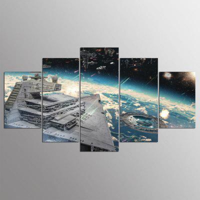 Buy COLORMIX 5PCS YSDAFEN Printed Starry Sky Painting Canvas Print for $43.99 in GearBest store