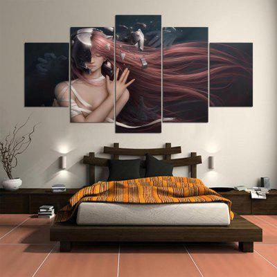 5PCS YSDAFEN Printed Cartoon Beauty Painting Canvas PrintPrints<br>5PCS YSDAFEN Printed Cartoon Beauty Painting Canvas Print<br><br>Brand: YSDAFEN<br>Craft: Print<br>Form: Five Panels<br>Material: Canvas<br>Package Contents: 5 x Print<br>Package size (L x W x H): 82.00 x 32.00 x 12.00 cm / 32.28 x 12.6 x 4.72 inches<br>Package weight: 1.5000 kg<br>Painting: Include Inner Frame<br>Product weight: 1.2000 kg<br>Shape: Horizontal Panoramic<br>Style: Cartoon<br>Subjects: Figure Painting<br>Suitable Space: Bedroom,Dining Room,Hotel,Living Room