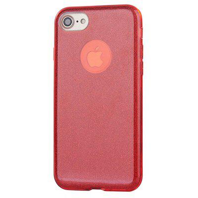Buy RED 3 in 1 Shimmering Powder Phone Back Case for iPhone 7 for $4.40 in GearBest store