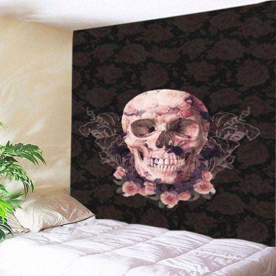 Wall Hanging Art Decor Skull Floral Print Tapestry