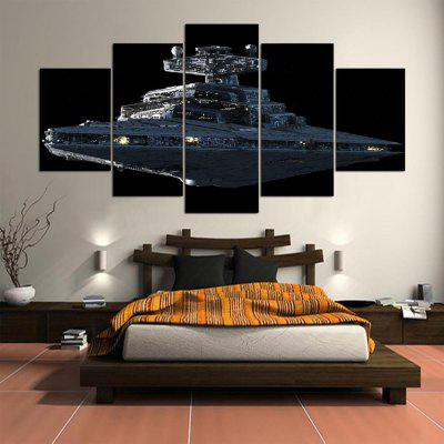 Buy COLORMIX 5PCS YSDAFEN Printed Ship Painting Canvas Print for $55.37 in GearBest store