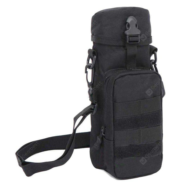 BLACK Outdoor Multifunctional Tactical Water Bottle Pouch