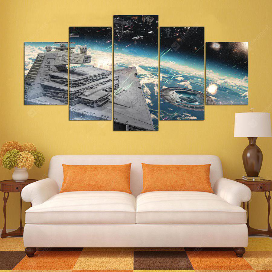 5PCS YSDAFEN Printed Starry Sky Painting Canvas Print