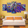 5PCS YSDAFEN Printed Colorful Owl Painting Canvas Print - COLORMIX