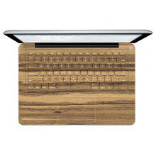 Wood Grain Picture Keyboard Sticker for MacBook Pro