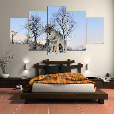 5PCS YSDAFEN Printed Wolf Painting Canvas PrintPrints<br>5PCS YSDAFEN Printed Wolf Painting Canvas Print<br><br>Brand: YSDAFEN<br>Craft: Print<br>Form: Five Panels<br>Material: Canvas<br>Package Contents: 5 x Print<br>Package size (L x W x H): 82.00 x 32.00 x 52.00 cm / 32.28 x 12.6 x 20.47 inches<br>Package weight: 1.5000 kg<br>Painting: Include Inner Frame<br>Product weight: 1.2000 kg<br>Shape: Horizontal Panoramic<br>Style: Modern<br>Subjects: Animal<br>Suitable Space: Bedroom,Dining Room,Hotel,Living Room