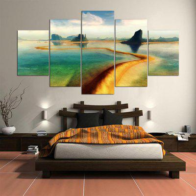 5PCS YSDAFEN Printed Long River Painting Canvas PrintPrints<br>5PCS YSDAFEN Printed Long River Painting Canvas Print<br><br>Brand: YSDAFEN<br>Craft: Print<br>Form: Five Panels<br>Material: Canvas<br>Package Contents: 5 x Print<br>Package size (L x W x H): 82.00 x 32.00 x 52.00 cm / 32.28 x 12.6 x 20.47 inches<br>Package weight: 1.5000 kg<br>Painting: Include Inner Frame<br>Product size (L x W x H): 150.00 x 80.00 x 10.00 cm / 59.06 x 31.5 x 3.94 inches<br>Product weight: 1.2000 kg<br>Shape: Horizontal Panoramic<br>Style: Modern<br>Subjects: Landscape<br>Suitable Space: Bedroom,Dining Room,Hotel,Living Room