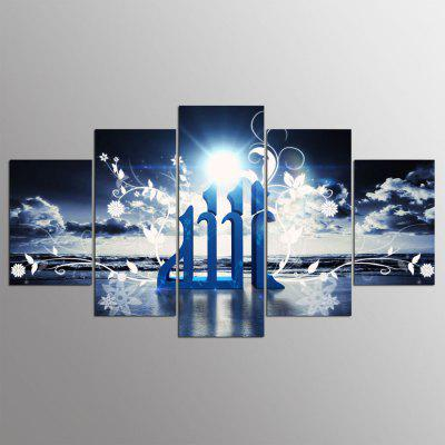 5PCS YSDAFEN Printed Ray Painting Canvas