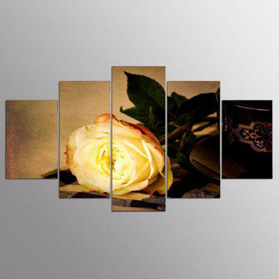 Buy COLORMIX 5PCS YSDAFEN Printed Beautiful Rose Painting Canvas Print for $55.37 in GearBest store