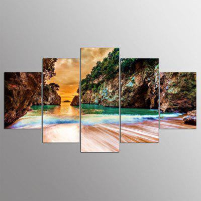 5PCS YSDAFEN Modern Colorful Landscape Abstract Canvas Prints Home Decor Picture Artwork Framed Wall Art Painting