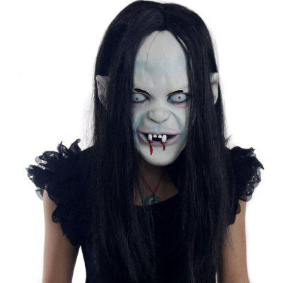 Buy COLORMIX YEDUO Halloween Prop Toothy Zombie Mask with Hair for $12.12 in GearBest store