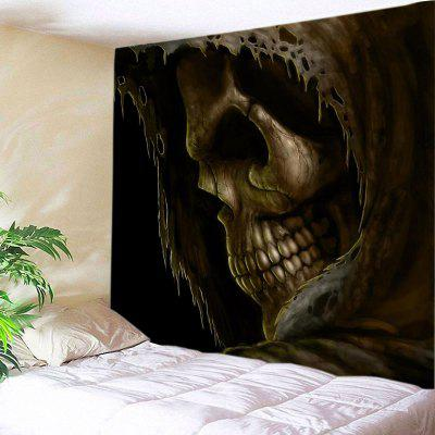 Wall Hanging Art Decor Cloak Skull Print Tapestry