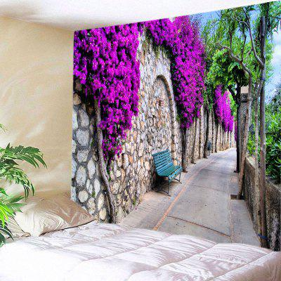 Buy TUTTI FRUTTI Wall Hanging Art Decor Floral Stone Wall Path Print Tapestry for $12.46 in GearBest store