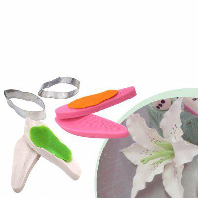 Lily Shape Silicone Stainless Steel Cake Cutter Mold Set