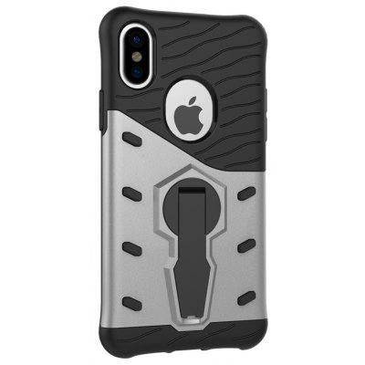 Buy SILVER Naxtop TPU Bumper PC Cover Kickstand Case for iPhone 8 for $3.88 in GearBest store