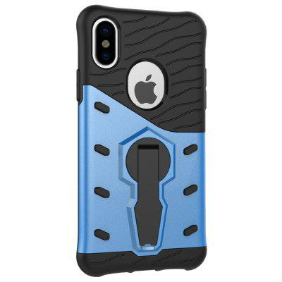 Buy BLUE Naxtop TPU Bumper PC Cover Kickstand Case for iPhone 8 for $3.88 in GearBest store
