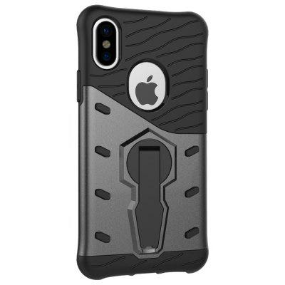 Buy GRAY Naxtop TPU Bumper PC Cover Kickstand Case for iPhone 8 for $4.16 in GearBest store